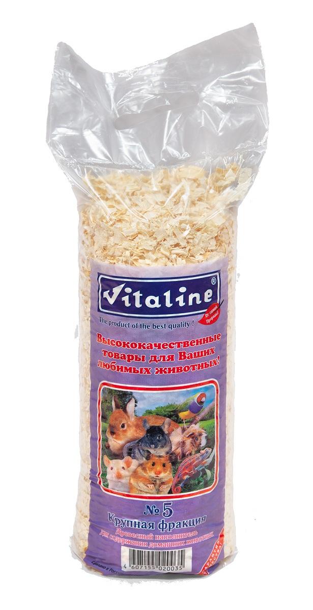 Наполнитель Vitaline Крупная фракция, на основе древесной стружки, 14,7 л340Наполнитель для кошачьих туалетов Vitaline Крупная фракция - 100% натуральный наполнитель, отлично подходят в качестве подстилки в клетках для грызунов и пушных зверей. Лучше чем многие наполнители удерживает запахи, и впитывают влагу, при этом не вызывает аллергию. Древесный наполнитель изготовлен из экологически чистого массива хвойных пород древесины, путём прохождения нескольких стадий калибровки и очистки от древесной пыли.Гигиенический сертификат на упаковочный материал 77.01.04.229.П.06967.04.4 от 01.01.04. Применение: Насыпать равномерным слоем 2-5 см.Менять подстилку по мере загрязнения. Не требует особых способов утилизации и после применения могут быть использованы в качестве удобрения.Важно! Содержимое упаковки не применять в качестве корма. Хранение при температуре 20 градусов по Цельсию и относительной влажности не более 80%. Хранить в сухом месте. Срок годности не менее 5 лет (не ограничен).