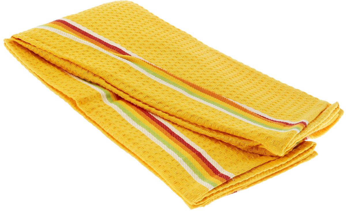 Полотенце для посуды Tescoma Presto Tone, цвет: желтый, 70 x 50 см, 2 шт639770_ЖелтыйМягкое полотенце Tescoma Presto Tone выполнено из натурального хлопка. Изделие отлично впитывает влагу и не оставляет подтеков. Полотенце предназначено для протирания посуды и многофункционального использования на кухне. В комплект входят 2 полотенца. Традиционная клеточка и сочные цвета сделают изделие украшением любого кухонного интерьера.Размер: 70 х 50 см.