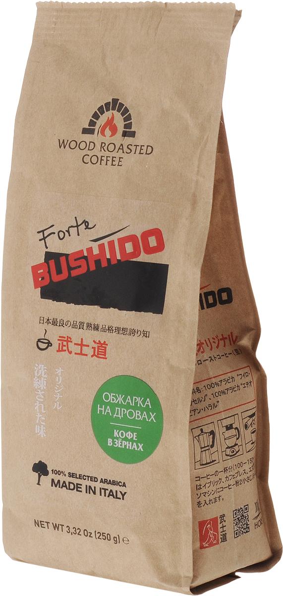 Bushido Forte кофе в зернах, 250 г di maestri venezia кофе в зернах 250 г