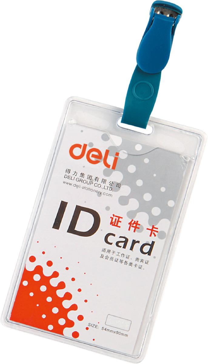 Deli Бейдж для пропуска вертикальный 5,4 см х 9 см цвет прозрачный 50 штE5753Материал - ПВХ. Вращающийся клип.