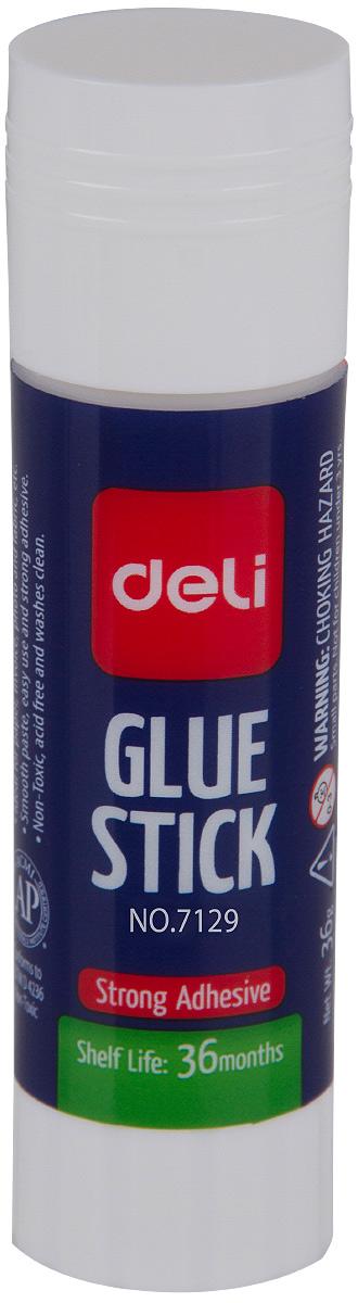Deli Клей-карандаш 15 гE7129Удобный и практичный клей-карандаш Deli незаменим на рабочем столе.Имеет прозрачную консистенцию, не токсичен. Клей-карандаш экологически безопасен, быстро сохнет и не оставляет следов после высыхания. Вес клея: 15 г.