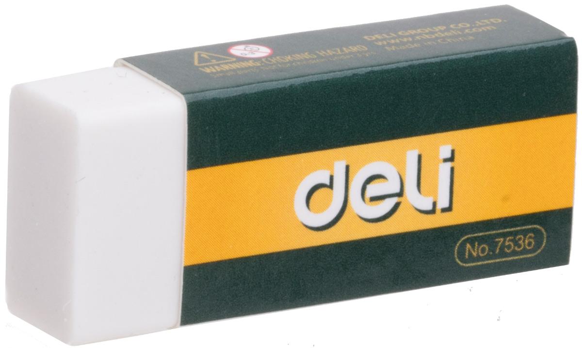 Deli Ластик цвет белый E7536E7536Ластик Deli имеет мягкую структуру, обладает высокой гибкостью, обеспечивая безупречное стирание.Ластик изготовлен из каучука и упакован в индивидуальную картонную упаковку.