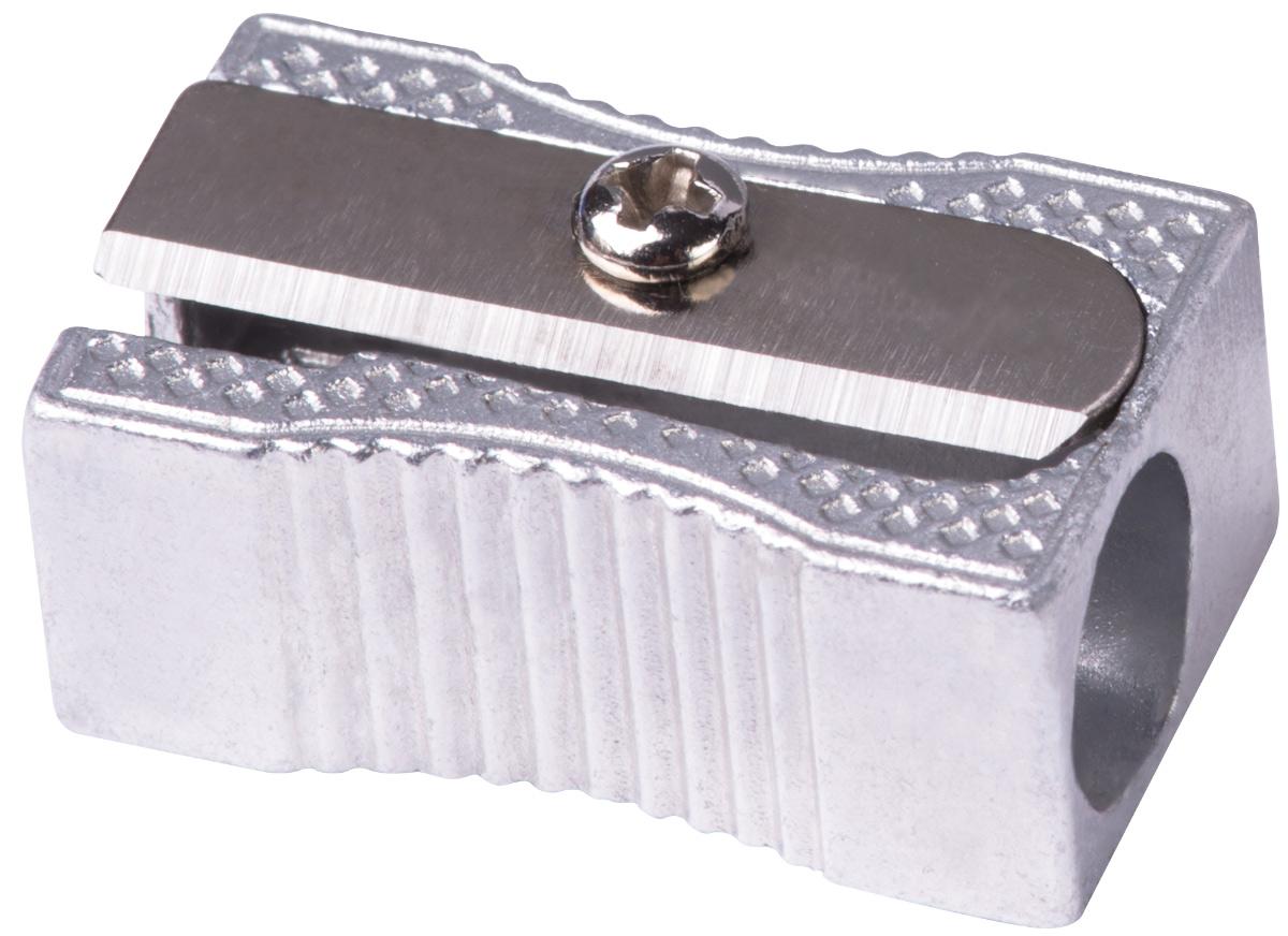 Deli Точилка E39760E39760Металлическая алюминиевая точилка Deli классического дизайна.Острое стальное лезвие обеспечивает качественную заточку карандашей.Наличие поперечных насечек на боковых гранях препятствует скольжению в процессе заточки.