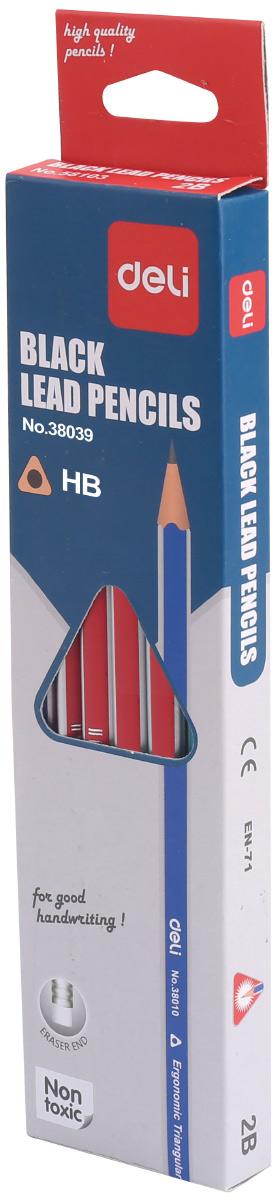 Deli Набор чернографитных карандашей 12 шт E38039E38039Набор чернографитных карандашей Deli станет незаменимым инструментом для начинающих и профессиональных художников. В набор входят 12 чернографитных карандашей твердости HB.Корпус карандашей выполнен из мягкого дерева, благодаря чему их легко затачивать. Высококачественный графитный стержень имеет высокую прочность и не ломается, обеспечивая мягкое письмо.Набор чернографитных карандашей - это практичный и современный художественный инструмент, который поможет вам в создании самых выразительных произведений, а также пригодится для выполнения записей и пометок.Карандаши дополнены ластиками. Уважаемые клиенты! Обращаем ваше внимание на ассортимент товара. Поставка осуществляется в зависимости от наличия на складе.
