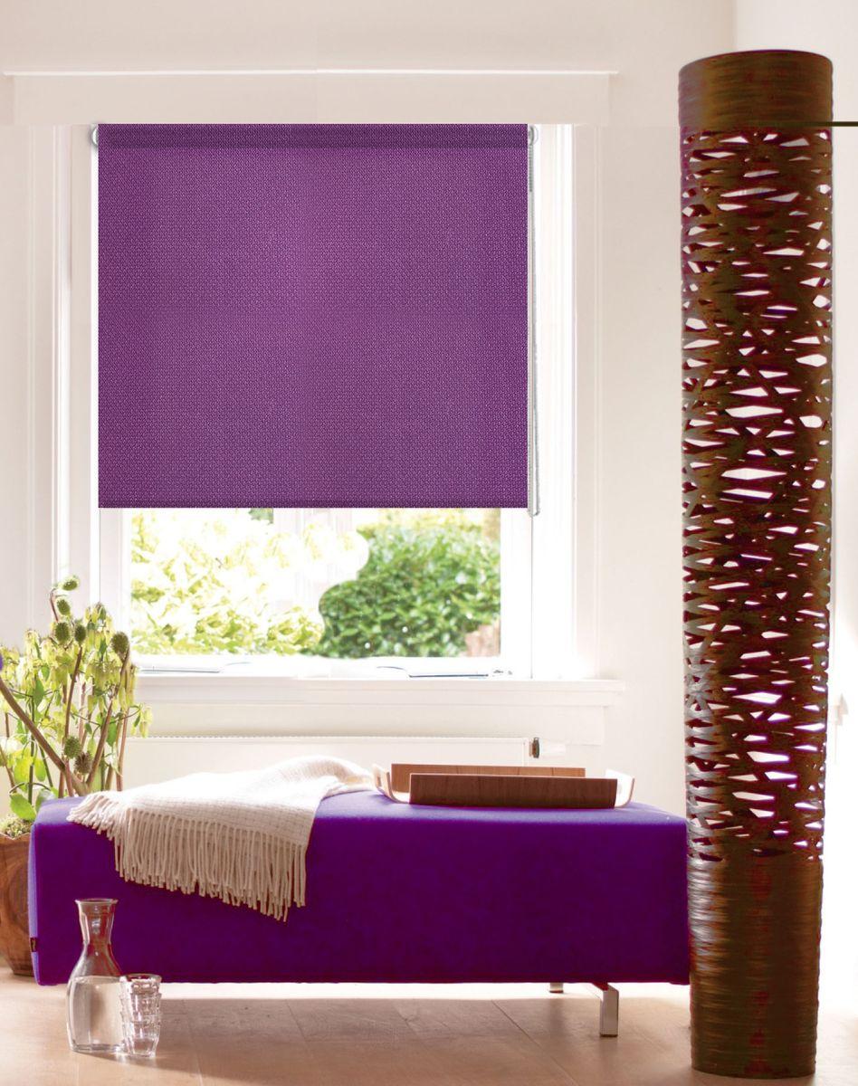 Штора рулонная Эскар Миниролло. Рояль, цвет: фиолетовый, ширина 57 см, высота 160 см304944057160Рулонными шторами можно оформлять окна как самостоятельно, так и использовать в комбинации с портьерами. Это поможет предотвратить выгорание дорогой ткани на солнце и соединит функционал рулонных с красотой навесных. Для изготовления рулонных штор используются ткани с различными рисунками и фактурой. Благодаря этому среди моделей рулонных штор для балконов и лоджий довольно большой выбор и вы всегда сможете подобрать для себя оптимальный вариант.Основу готовых штор составляет тканевое полотно, которое при открывании наматывается на вал, закрепленный в верхней части окна. Для удобства управления и ровного натяжения полотна снизу оно утяжелено пластиной. Светонепроницаемость 50%.Полотна фиксируются с помощью трубы диаметром 17 мм. Крепление осуществляется на раму без сверления: с помощью клипсы на откидное окно; с помощью площадки с двустороннем скотчем на глухое окно.Преимущества применения рулонных штор для пластиковых окон: - имеют прекрасный внешний вид: многообразие и фактурность материала изделия отлично смотрятся в любом интерьере;- многофункциональны: есть возможность подобрать шторы способные эффективно защитить комнату от солнца, при этом она не будет слишком темной; - есть возможность осуществить быстрый монтаж.ВНИМАНИЕ! Ширина изделия указана по ширине ткани! Для выбора правильного размера необходимо учитывать - ткань должна закрывать оконное стекло на 3 см.Однотонная палитра - будет идеально гармонировать в любом интерьере, сочетаться с обоями, мебелью и другими функциональными или стилевыми элементами.