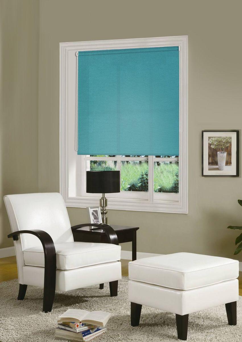"""Рулонными шторами можно оформлять окна как самостоятельно, так и использовать в  комбинации с портьерами. Это поможет предотвратить выгорание дорогой ткани на  солнце и соединит функционал рулонных с красотой  навесных. Для изготовления рулонных штор используются ткани с различными рисунками  и фактурой. Благодаря этому среди моделей рулонных штор для балконов и лоджий  довольно большой выбор и вы всегда сможете подобрать  для себя оптимальный вариант.    Основу готовых штор составляет тканевое полотно, которое при открывании  наматывается на вал, закрепленный в верхней части окна. Для удобства управления и  ровного натяжения полотна снизу оно утяжелено пластиной.  Светонепроницаемость 50%.   Полотна фиксируются с помощью трубы диаметром 17 мм. Крепление осуществляется на  раму без сверления: с помощью """"клипсы"""" на откидное окно; с помощью площадки с  двустороннем скотчем на глухое окно.      Преимущества применения рулонных штор для пластиковых окон:     - имеют прекрасный внешний вид: многообразие и фактурность материала изделия  отлично смотрятся в любом интерьере;   - многофункциональны: есть возможность подобрать шторы способные эффективно  защитить комнату от солнца, при этом она не будет слишком темной;    - есть возможность осуществить быстрый монтаж.     ВНИМАНИЕ! Ширина изделия указана по ширине ткани!    Для выбора правильного размера необходимо учитывать - ткань должна закрывать  оконное стекло на 3 см.        Однотонная палитра - будет идеально гармонировать в любом интерьере, сочетаться с  обоями, мебелью и другими функциональными или стилевыми элементами."""