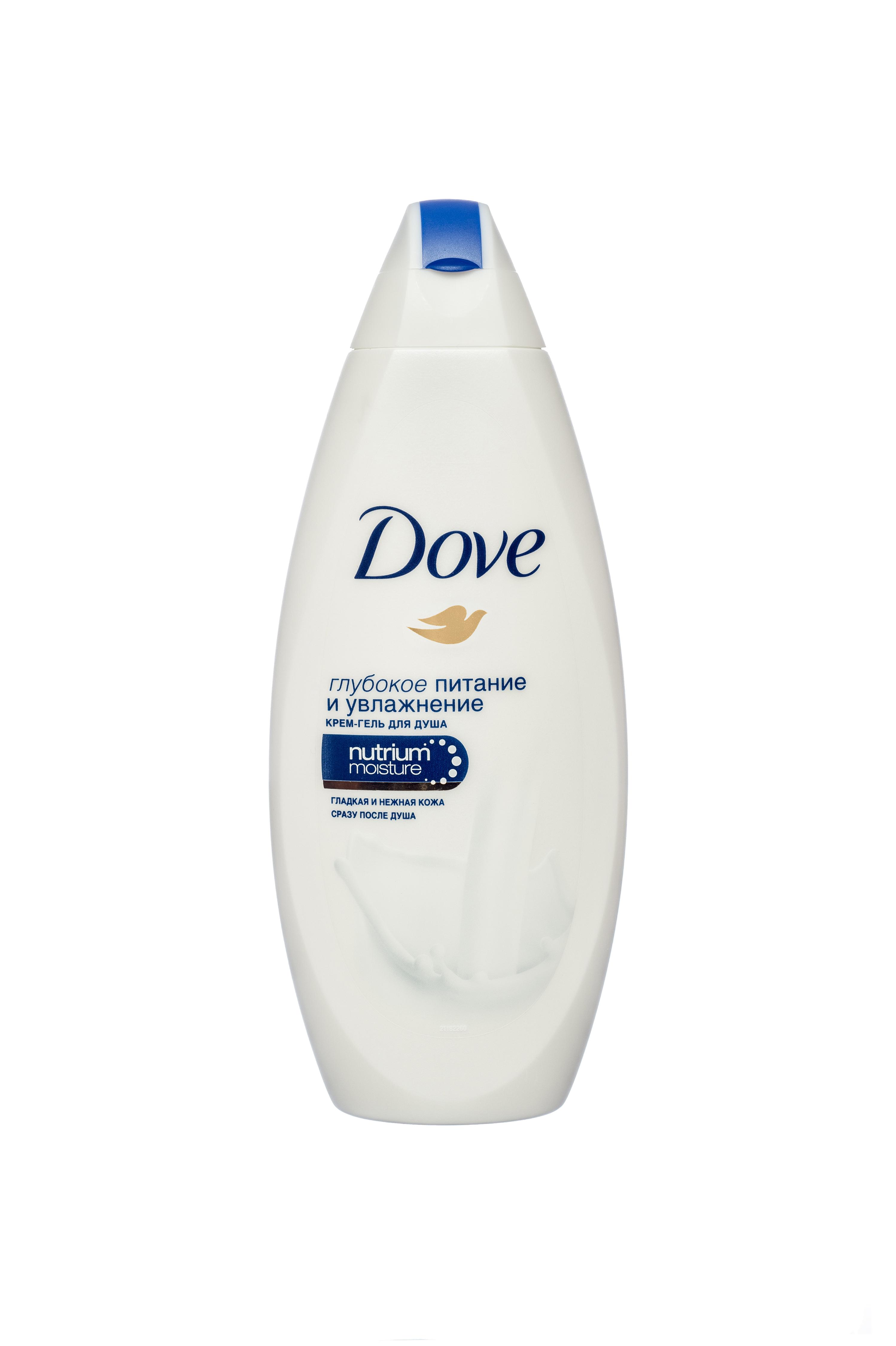 Dove Гель для душа Глубокое Питание и Увлажнение 250 мл21145682Делает Вашу кожу гладкой и нежной сразу после душа.Благодаря нашим самым бережным очищающим компонентам и комплексу NutriumMoistur - уникальному сочетанию ухаживающих компонентов, которые обеспечивают больше естественного питания для Вашей кожи, чем большинство гелей для душа.