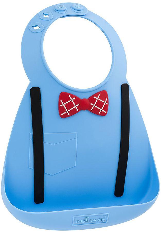 Make My Day Нагрудник Baby Bib Scholar цвет голубой - Все для детского кормления