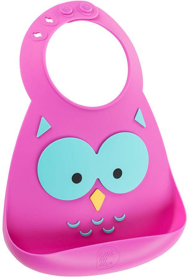Make My Day Нагрудник Baby Bib Owl - Все для детского кормления