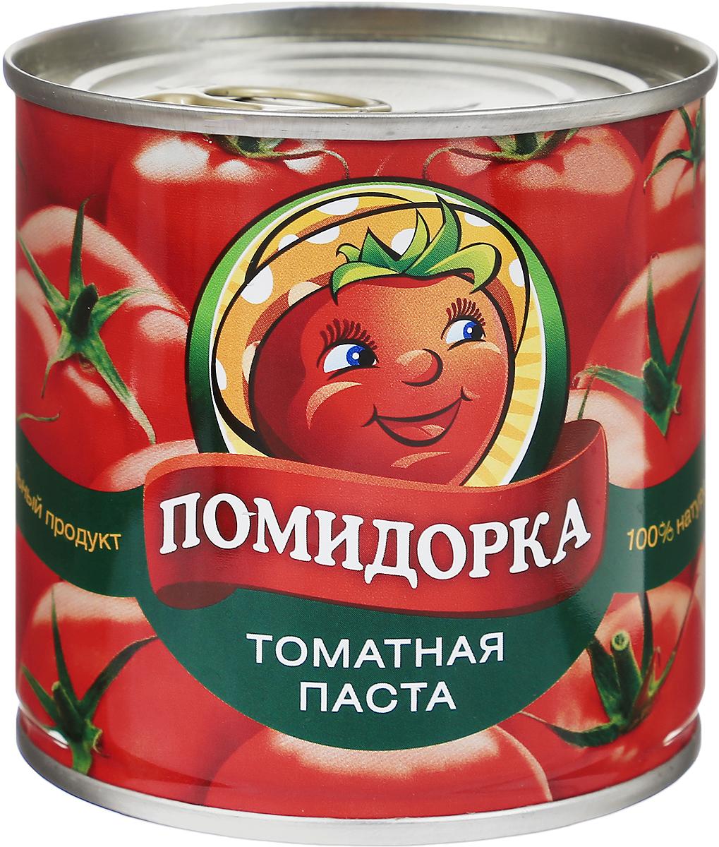 Помидорка Томатная паста, 250 г4654Томатная паста Помидорка - гармоничный продукт с оригинальным свежим вкусом, насыщенным цветом и ароматом.В ней отсутствуют искусственные пищевые добавки - это полностью натуральный продукт. Томатная паста Помидорка очень густая (содержит более 25-28% сухих веществ) и приготовлена только из помидоров.