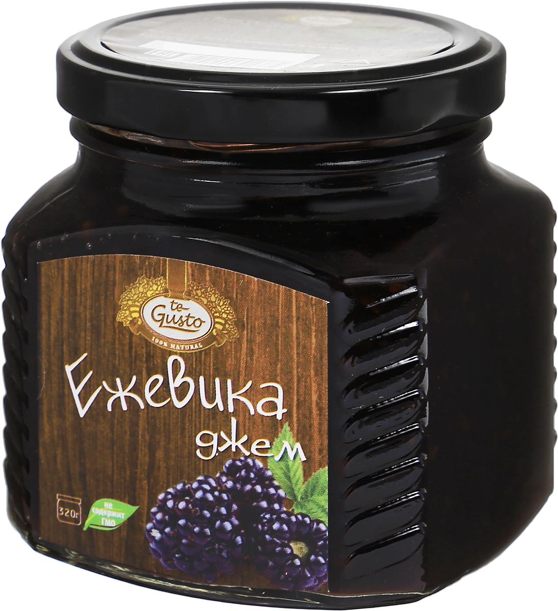 te Gusto Джем из ежевики, 320 г4657155301375Ароматный джем te Gusto изготовлен из ежевики, имеет желеобразную консистенцию с крупными кусочками ягод.Для приготовления джема используются только свежие, тщательно отобранные плоды, созревшие в экологически чистых местах. Продукт не содержит ГМО.Открыв ежевичное сокровище, вы получите не только вкусный натуральный десерт, но и эффективное лекарство от простуды. В соке ягоды масса биофлавонидов, которые способствуют снижению жара, нормализации температуры. Это лучше, чем все фармацевтические инновации.Уважаемые клиенты! Обращаем ваше внимание, что полный перечень состава продукта представлен на дополнительном изображении.