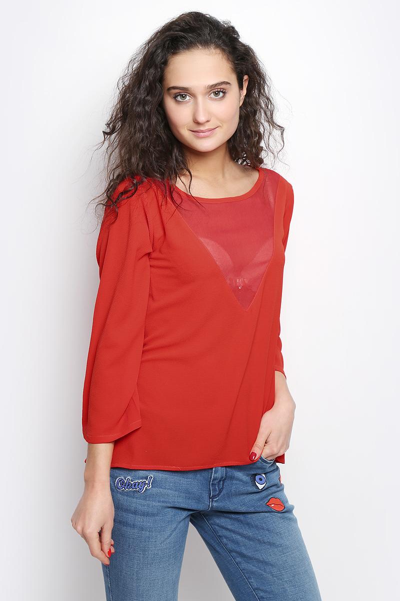 Блузка женская Tom Tailor Contemporary, цвет: алый. 2032977.00.75_4239. Размер 36 (42) блузка женская tom tailor denim цвет темно синий 1036105 01 71 6901 размер xs 42