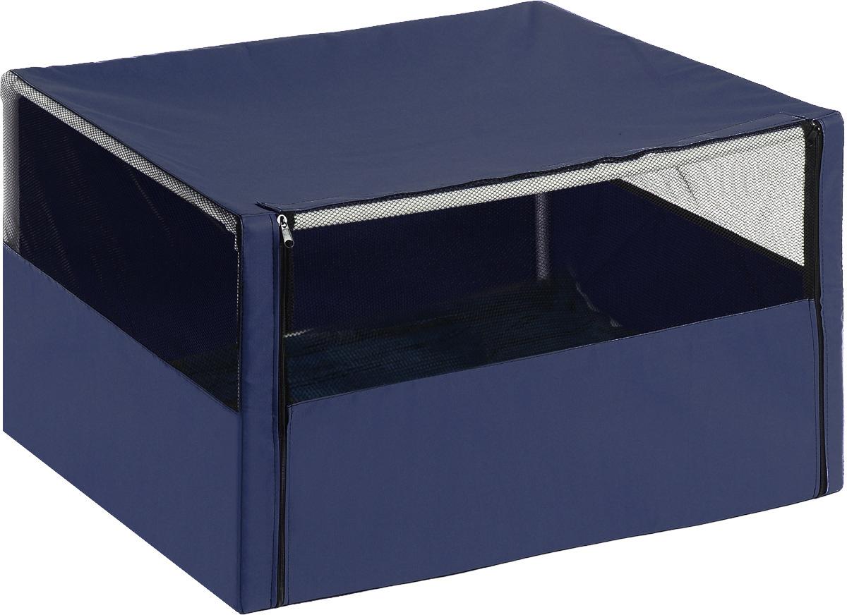 Клетка-вольер для животных Elite Valley, цвет: черный, темно-синий, 90 х 70 х 70 см вольер тент для собак 92 см х 92 см 43 см
