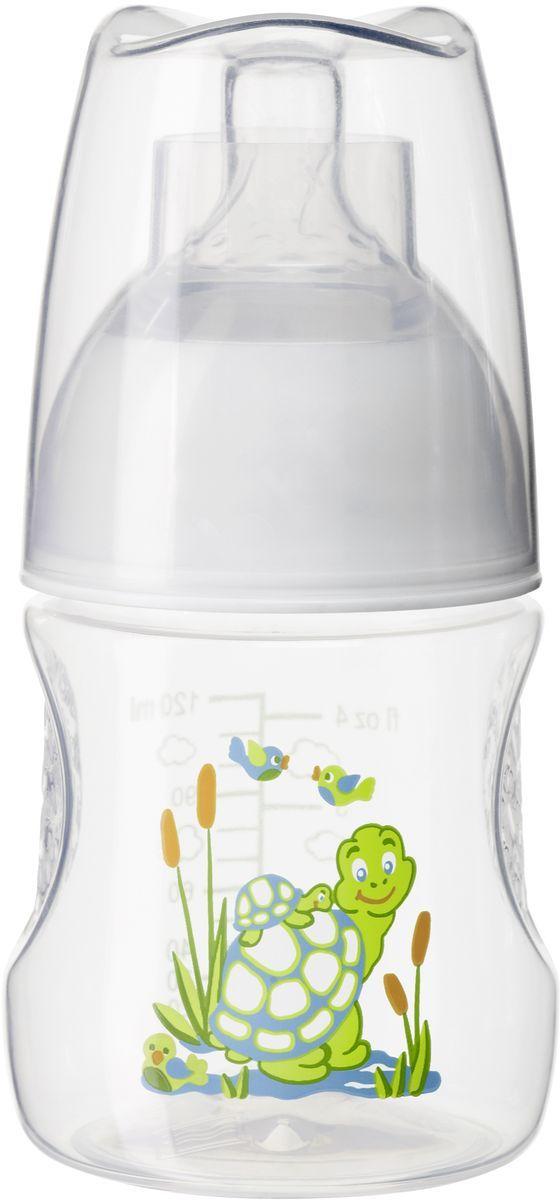 Bibi Бутылочка для кормления с антиколиковой силиконовой соской Happiness Play with Us от 0 месяцев 120 мл happiness basics толстовка