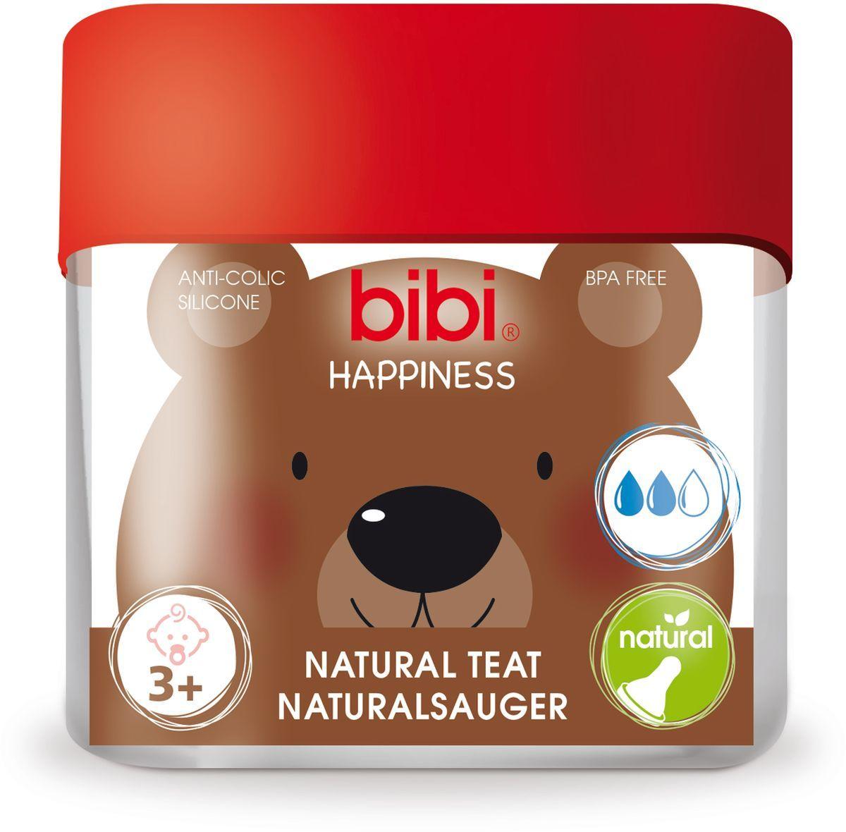где купить Bibi Соска силиконовая для бутылочки Bibi Happiness от 3 месяцев 2 шт по лучшей цене