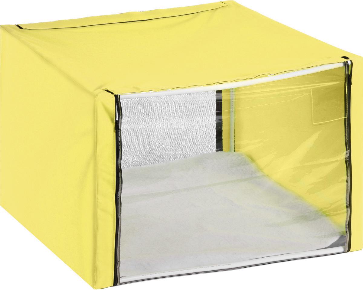 Клетка для животных  Elite Valley , выставочная, цвет: желтый, прозрачный, 76 х 56 х 56 см - Клетки, вольеры, будки