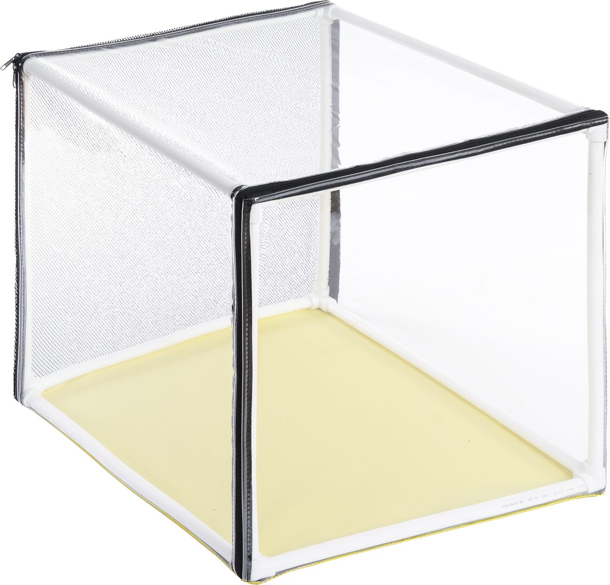Клетка для животных Elite Valley Аквариум, выставочная, цвет: прозрачный, желтый, 60 х 60 х 60 см725жкСКоКлетка Elite Valley Аквариум предназначена для показа кошек и собак на выставках.Она выполнена из плотного текстиля, каркас - пластиковые трубки. Клетка оснащенасъемной пленкой и съемной сеткой. Клетка быстро собирается и разбирается. В комплекте сумка-чехол для удобной транспортировки.