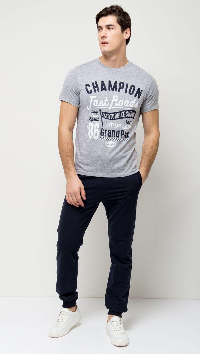 все цены на Футболка мужская Sela, цвет: серый меланж. Ts-2411/006-7111. Размер XXS (42) онлайн