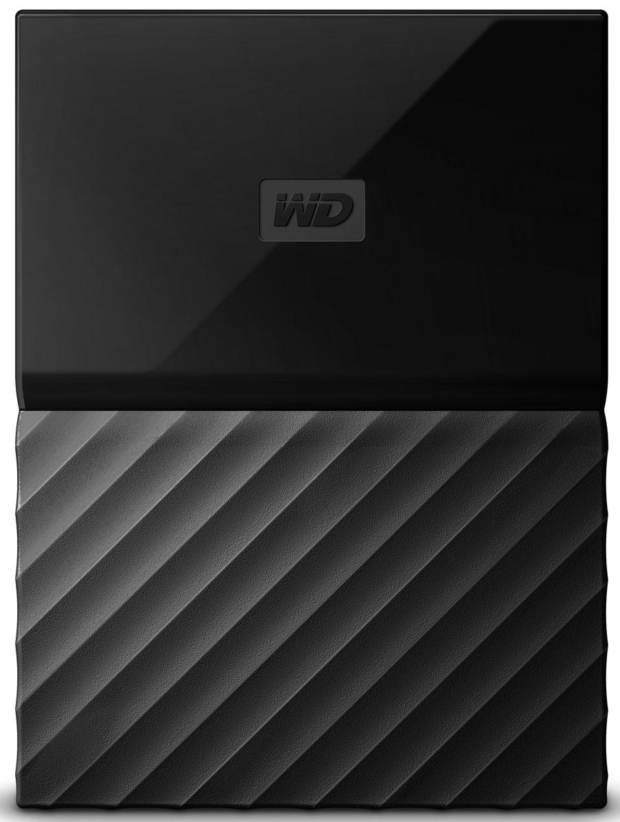 WD My Passport 1TB, Black внешний жесткий диск (WDBBEX0010BBK-EEUE) - Носители информации