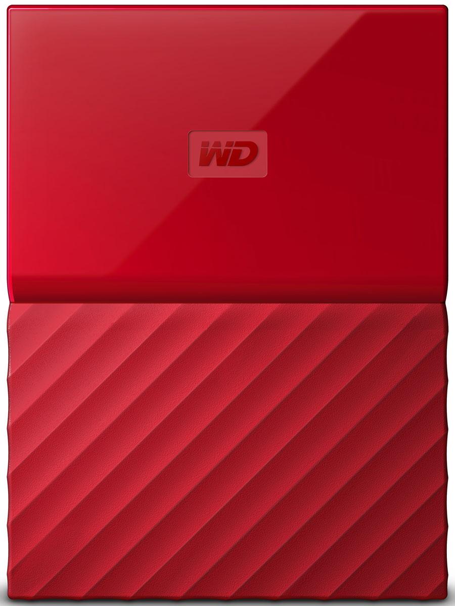 WD My Passport 4TB, Red внешний жесткий диск (WDBUAX0040BRD-EEUE) - Носители информации