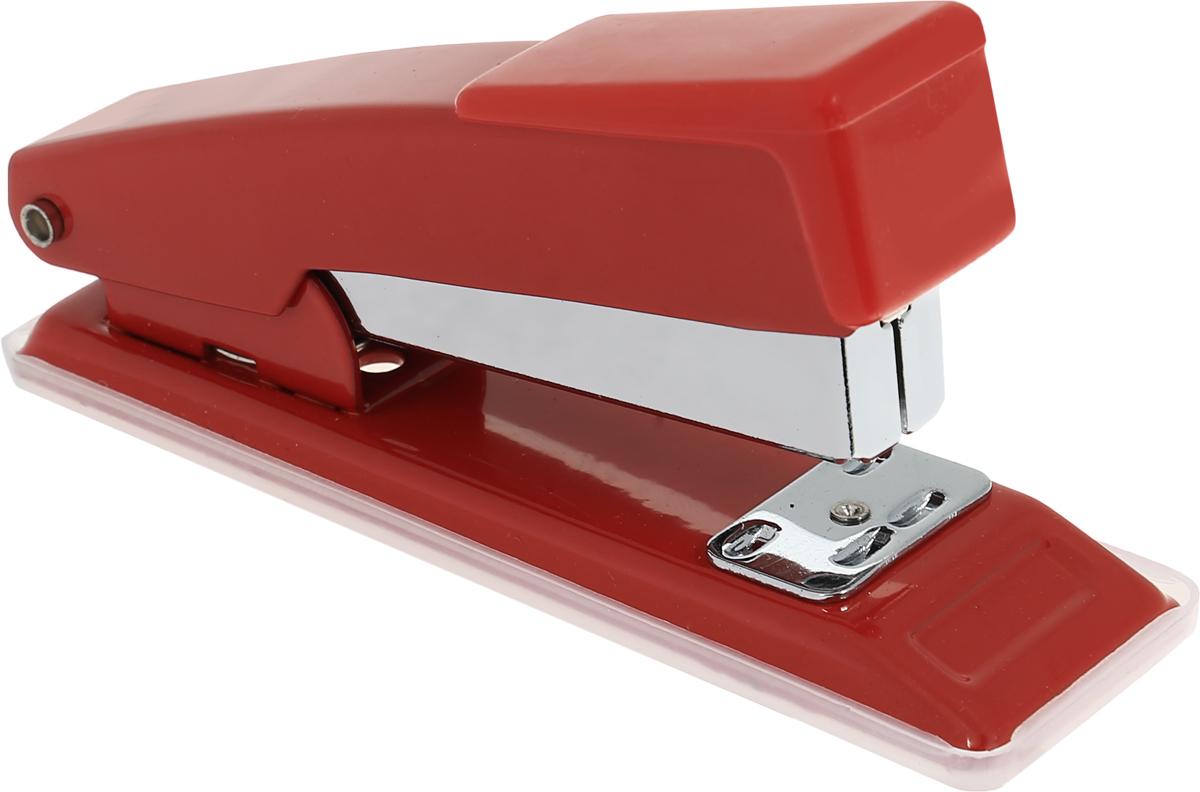 Centrum Степлер для скоб №24/6 26/6 цвет красный80061_красныйСтильный, удобный и практичный степлер Centrum - незаменимый офисный инструмент.Он выполнен из пластика с металлическим механизмом. Степлер рассчитан на скрепление 10 листов скобами № 24/6, 26/6.Степлер Centrum с надежным корпусом и эргономичным дизайном гарантирует стабильную и качественную работу в течение долгого времени.