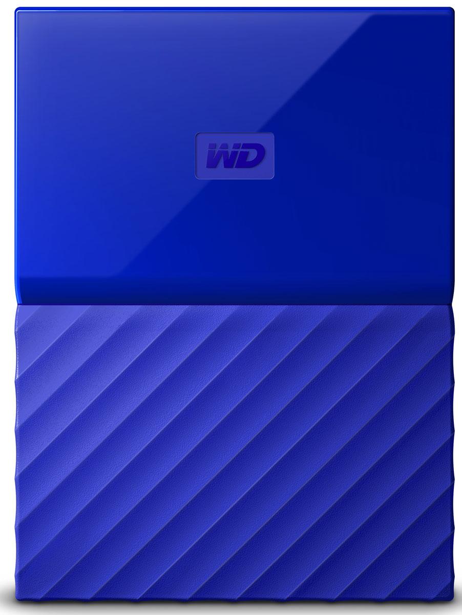 WD My Passport 4TB, Blue внешний жесткий диск (WDBUAX0040BBL-EEUE) - Носители информации