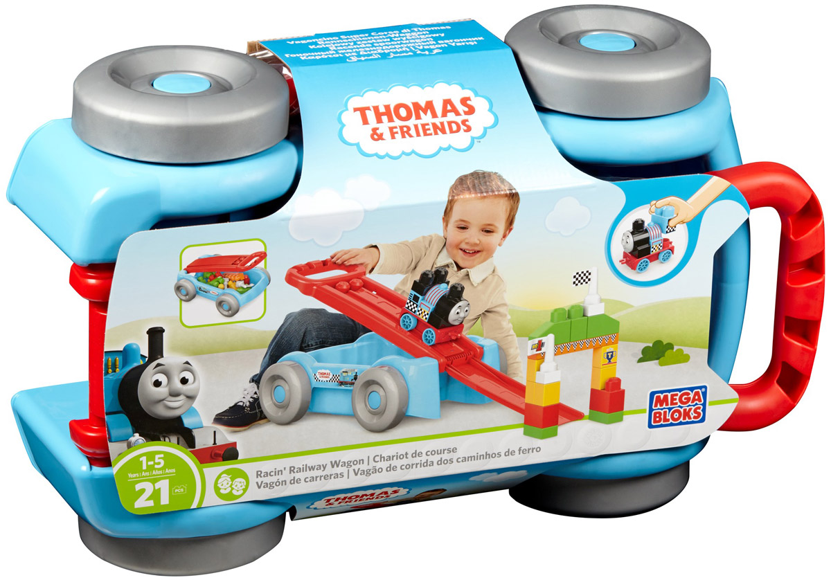 Mega Bloks Thomas & Friends Конструктор Гоночный железнодорожный вагончик конструктор железнодорожный вокзал