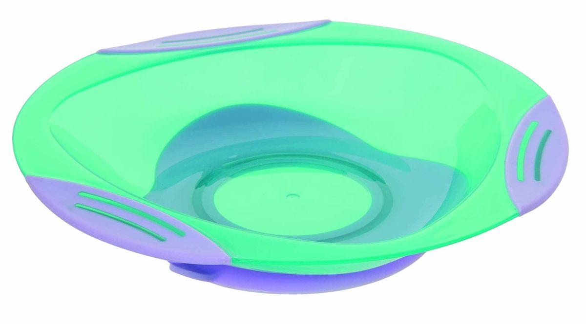 Тарелочка для вторых блюд подходит для горячей и холодной пищи. Тарелочка имеет: присоску, которая надежно фиксирует тарелочку на столе (специальный язычок на присоске позволяет легко отлепить тарелочку); по краям тарелочки три нескользящие вставки. ВНИМАНИЕ!!! Запрещено стерилизовать и разогревать в СВЧ-печи. Разрешено мыть в посудомоечной машине только в верхнем отделении. Не содержит Бисфенол-А.