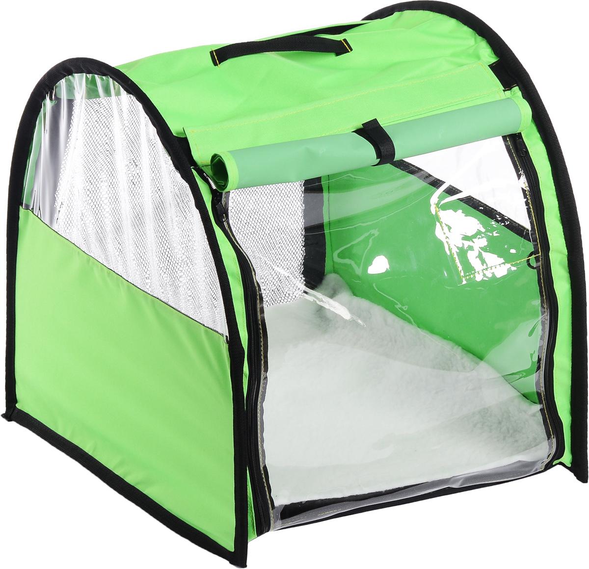 Клетка выставочная  Elite Valley , полукруглая, одинарная, цвет: зеленый, черный, прозрачный, 60 х 49 х 62 см - Клетки, вольеры, будки