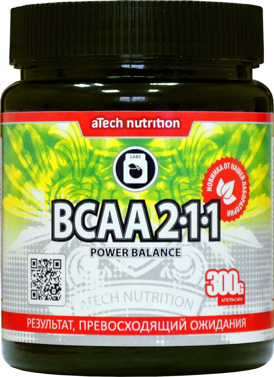 "Комплекс аминокислотный aTech Nutrition ""BCAA 2:1:1 Power Balance"", апельсин, 300 г"