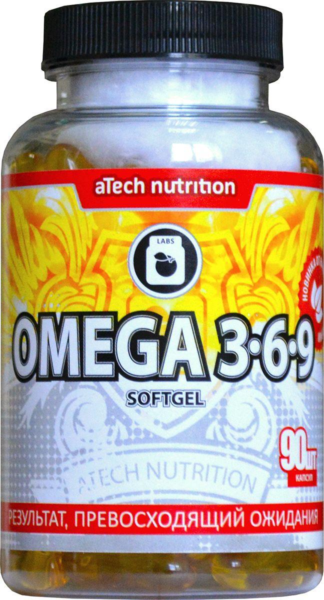 Пищевая добавка aTech Nutrition Omega 3-6-9, 90 капсул рыбий жир mychoice nutrition omega 3 pro 1000 мг 90 шт