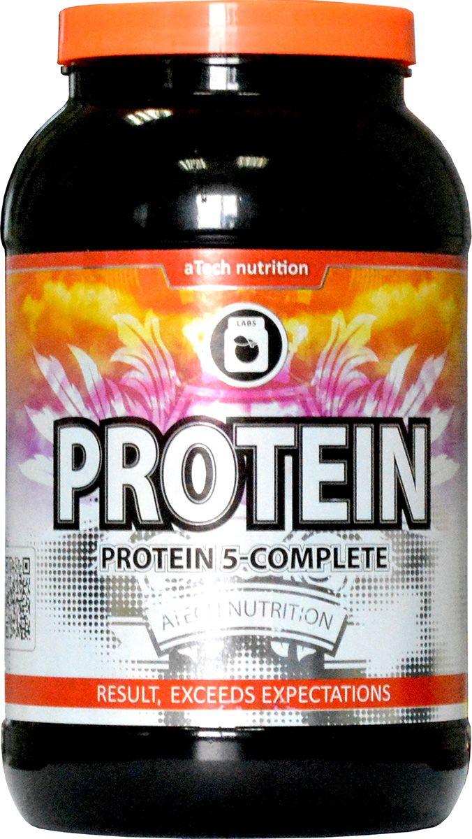 Протеин cывороточный aTech Nutrition  Protein 5-Complete , банан, 924 г - Протеины