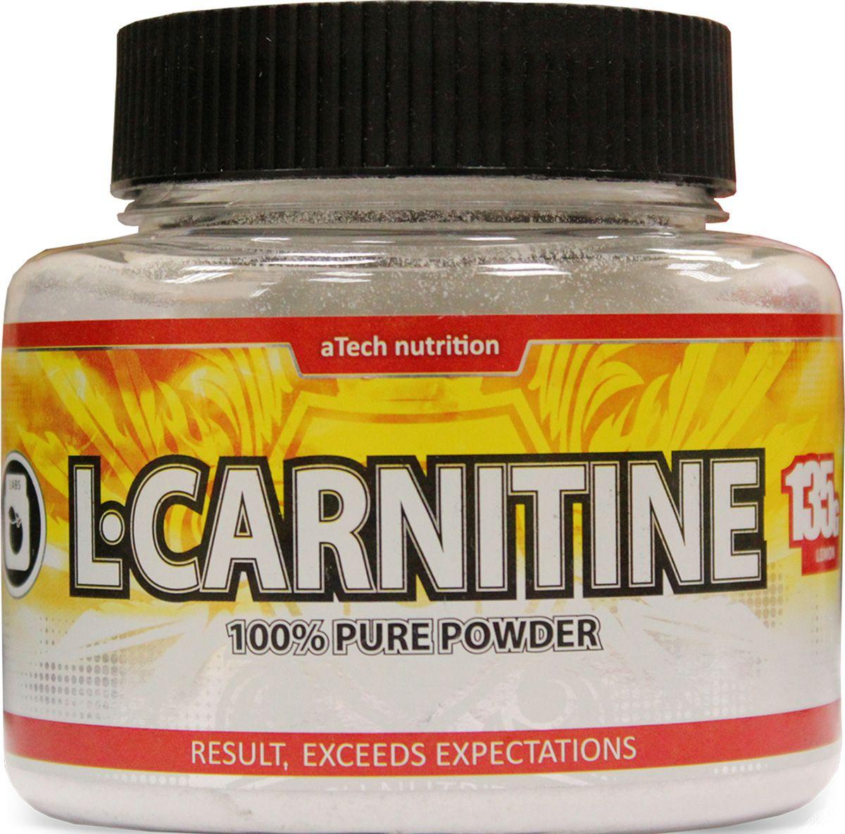 L-карнитин aTech Nutrition L-Carnitine Pure Powder 100%, вишня, 135 г карнитин bbb l carnitine 3000 tabs 100 таблеток