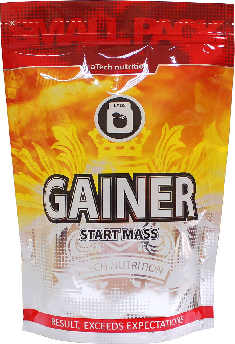 Гейнер aTech Nutrition Gainer Start Mass, печенье и карамель, 1000 г гейнер geneticlab nutrition mass gainer шоколад 1000 г