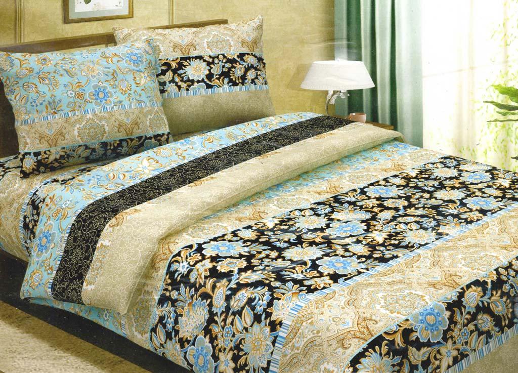 Комплект белья Primavera Роскошный, 2-спальный, наволочки 70x70, цвет: коричневый