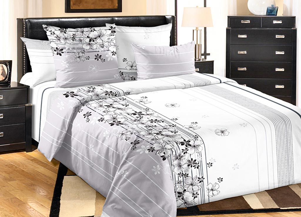 Комплект белья Primavera Утро, 2-спальный, наволочки 70x70, цвет: серый комплект белья primavera вензеля 2 спальный наволочки 70x70 цвет коричневый