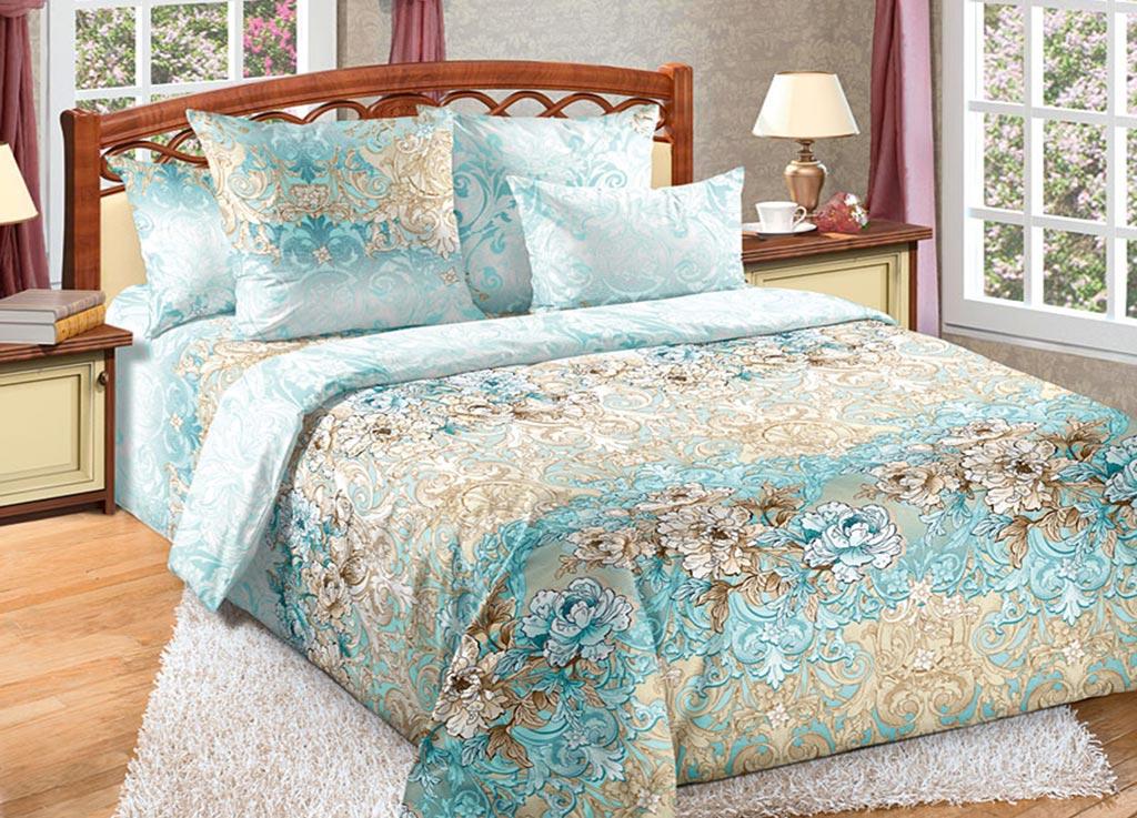 Комплект белья Primavera Лазурь, 1,5-спальный, наволочки 70x70