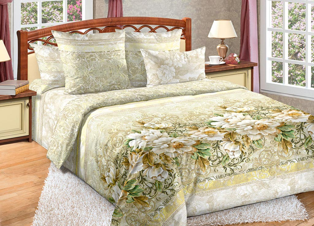 """Фото Комплект белья Primavera """"Цветы"""", 2-спальный, наволочки 70x70"""