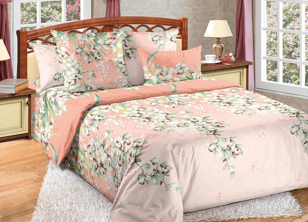 Комплект белья Primavera Орхидея, евро, наволочки 70x70, 50x70