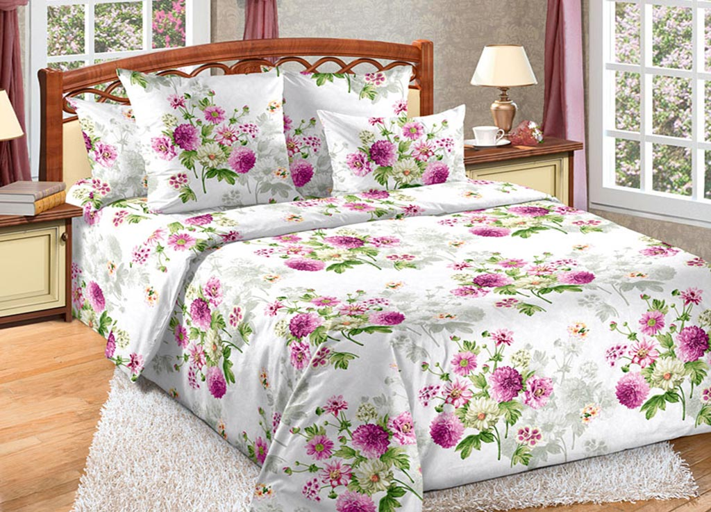 Комплект белья Primavera Астры, евро, наволочки 70x70, 50x70 комплекты постельного белья tango постельное белье jacklyn 2 сп евро