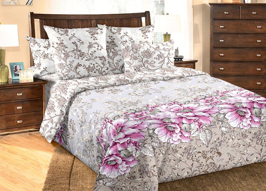 Комплект белья Primavera Маки, 2-спальный, наволочки 70x70 комплект белья primavera classic брасика 1 5 спальный наволочки 70x70 цвет серый