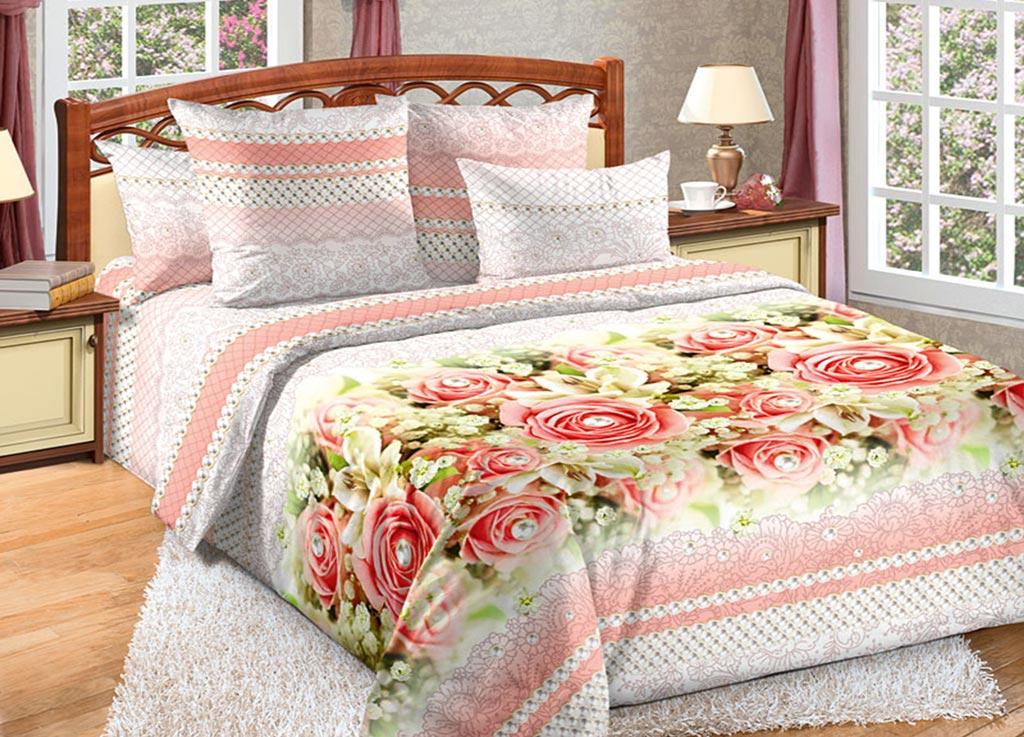 Комплект белья Primavera Восторг, 2-спальный, наволочки 70x70 комплект белья primavera classic сиреневый цвет 2 спальный наволочки 70x70
