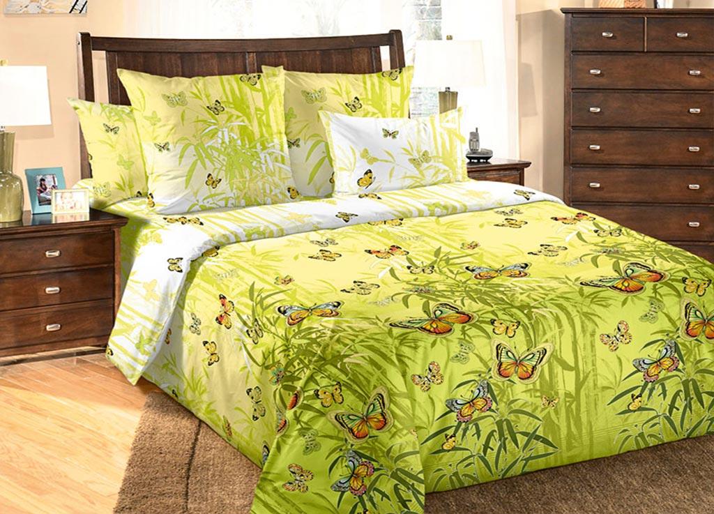 Комплект белья Primavera Бабочки, евро, наволочки 70x70, 50x70