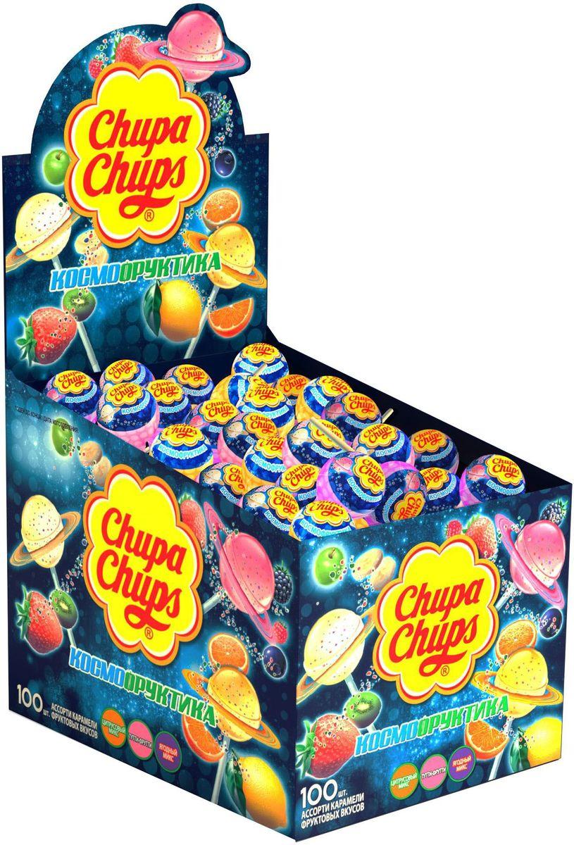 Chupa Chups карамель Космофруктика ассорти, 100 шт по 12 г автомобильные ароматизаторы chupa chups ароматизатор воздуха chupa chups chp801