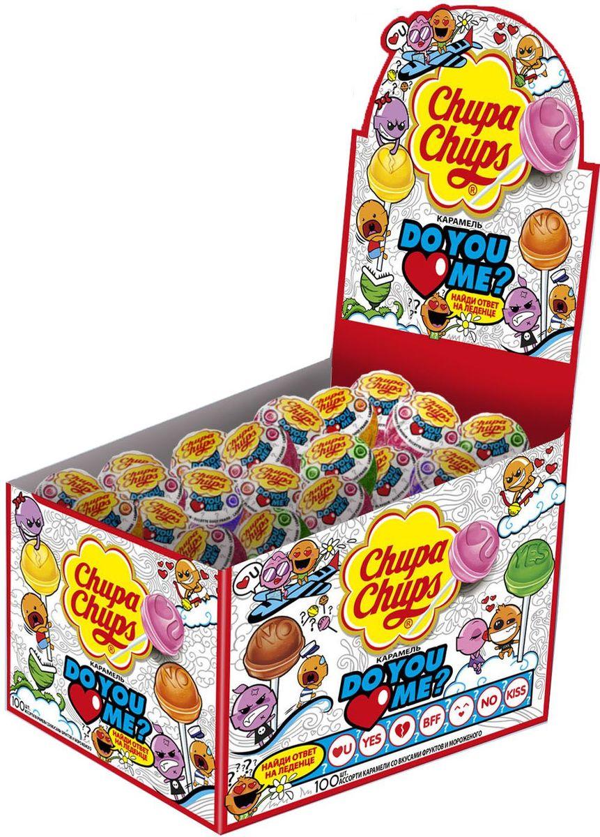 Chupa Chups карамель Do you love me ассорти, 100 шт по 12 г карамель chupa chups do you love me 12г