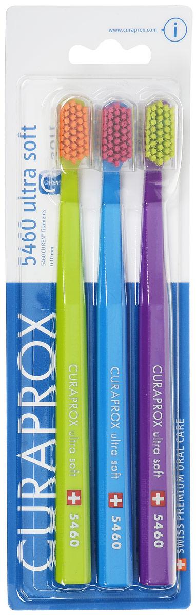 Curaprox CS5460/3 Набор зубных щеток Ultrasoft, цвет: салатовый, голубой, фиолетовый, d 0,10 мм 3 штCS5460/3_салатовый, голубой, фиолетовыйЩетки предназначены для ежедневного очищения зубов. Каждая щетка содержит 5460 мягких активных щетинок (диаметр 0,10мм) и обеспечивает качественное и нетравматичное удаление зубного налета.