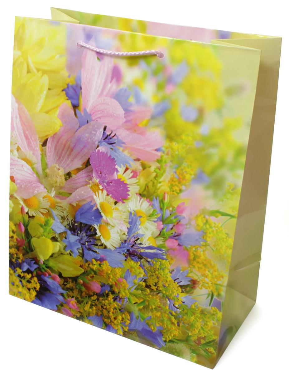 Пакет подарочный МегаМАГ Цветы, 26,4 х 32,7 х 13,6 см. 3120 L3120 LПодарочный пакет МегаМАГ, изготовленный из плотной ламинированной бумаги, станет незаменимым дополнением к выбранному подарку. Для удобной переноски на пакете имеются ручки-шнурки.Подарок, преподнесенный в оригинальной упаковке, всегда будет самым эффектным и запоминающимся. Окружите близких людей вниманием и заботой, вручив презент в нарядном, праздничном оформлении.
