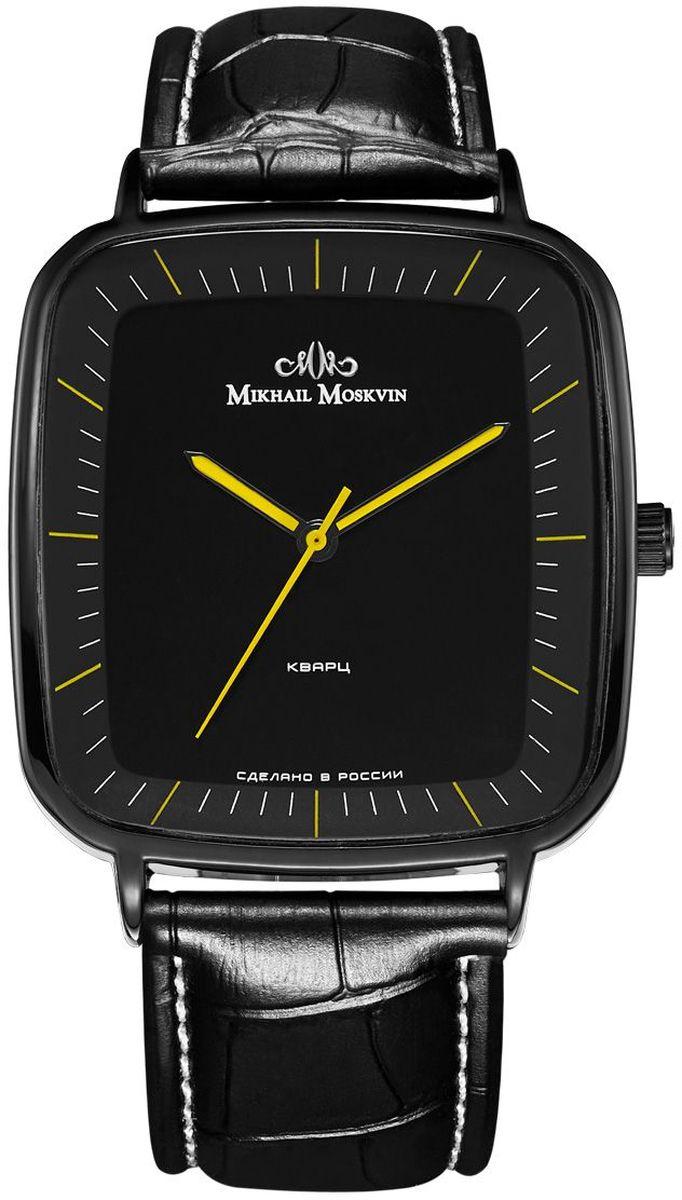 Часы наручные мужские Mikhail Moskvin, цвет: черный. 1201A11L1