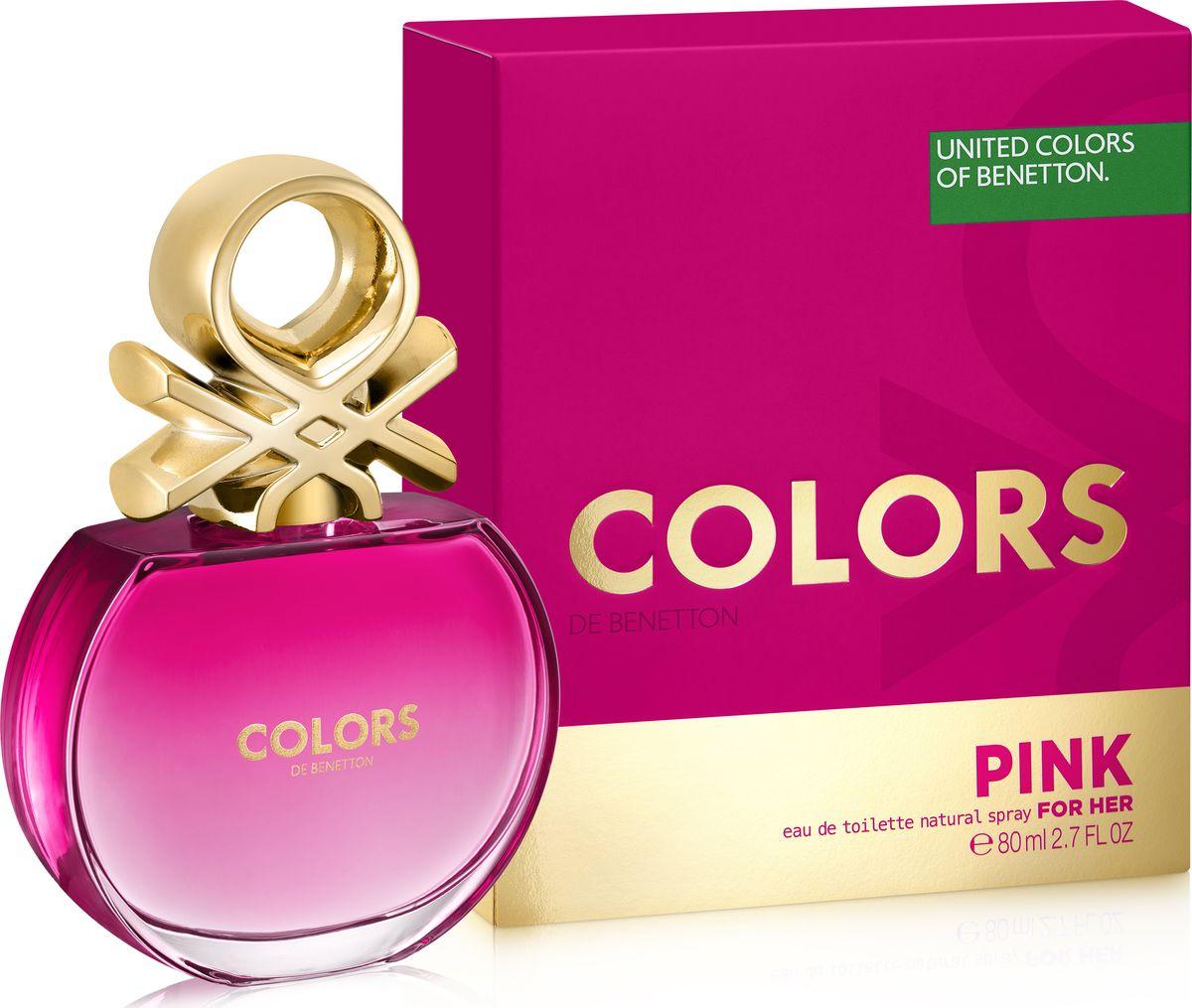 Benetton Colors Pink Туалетная вода женская 80 мл туалетная вода united colors of benetton туалетная вода benetton ud aim high 60 мл