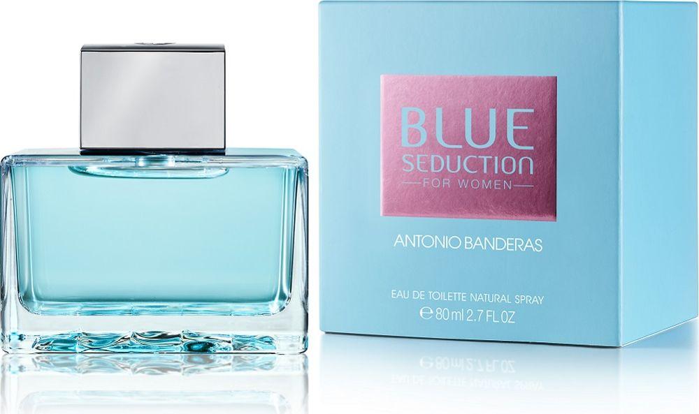 Antonio Banderas Blue Seduction Woman Туалетная вода 80 мл.65111324Blue Seduction for Woman - очень женственный аромат, обладающий особой свежестью Blue Freshness и четко выраженной чувственностью. Он создан для женщины с характером, полной современного духа и спонтанности, которая спешит ярко прожить каждый момент и любит сюрпризы. За счет цитрусовых, сочных фруктовых нот и нот лепестков фиалки достигается нежное ощущение свежести и чистоты. Тонкое сочетание цветочных нот, усиленное нотами лепестков розы и жасмина, а также сочными нотами малины придает аромату женственность. Чувственность базовых нот проявляется, благодаря освежающим восточным нотам, усиленным успокаивающим бензоином и долгой теплоте мускуса. Сладкие ноты придают аромату сексуальность и привлекательность. Верхняя нота: Бергамот, листья фиалки, дыня Средняя нота: Болгарская роза, жасмин, малина Шлейф: Пачули, бензоин (смола), мускус Новая завораживающая чистота и свежестьНанести на кожу, избегая попадания в глаза.Краткий гид по парфюмерии: виды, ноты, ароматы, советы по выбору. Статья OZON Гид